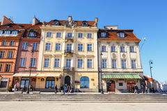 Old town square in Warsaw in a sunny day. Warsaw is the capital of Poland Royalty Free Stock Photo