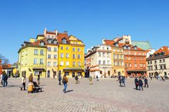Old town square in Warsaw in a sunny day. Warsaw is the capital of Poland Royalty Free Stock Image