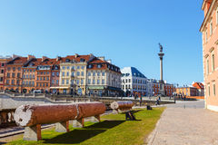 Old town square in Warsaw in a sunny day. Warsaw is the capital of Poland Stock Photography