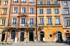 Old town square in Warsaw in a sunny day. Warsaw is the capital of Poland Stock Image