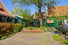 Old  town square of Zaandijk, Netherlands Royalty Free Stock Image