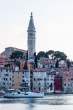 Old Town and St. Euphemia's Church at dusk, Rovinj, Istria, Croatia, Adriatic, Europe Royalty Free Stock Photo