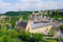 Old town and St.Jean Baptiste in the City of Luxembourg Royalty Free Stock Photo
