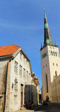 Old town -St. Olav church Royalty Free Stock Image