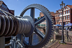 The old town Stade. The historic harbor town of Stade, on the river Elbe, Germany Royalty Free Stock Images