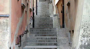 Old town stairs Royalty Free Stock Image