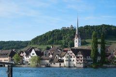 Old Town Stein am Rhein in Switzerland Stock Photo