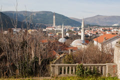 Old town with sticking up the minarets of mosques Royalty Free Stock Photography