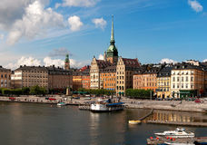 Old Town Stockholm. Historical buildings in Stockholms Old Town stock photo