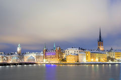 Old Town Stockholm city Stock Photography