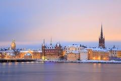 Old Town Stockholm city at dusk Sweden Stock Image