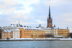 Old Town Stockholm Cityscape Stock Photo