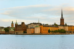 Old Town of Stockholm in early evening royalty free stock photo
