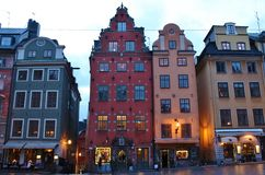 Old Town in Stockholm. The Great square is located in the Old Town is Stockholm's oldest square Stock Photography