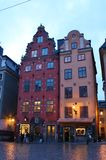 Old Town in Stockholm. The Great square is located in the Old Town is Stockholm's oldest square Royalty Free Stock Image
