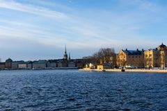 Old Town Stockholm Popular Touristic Attraction.  stock photo