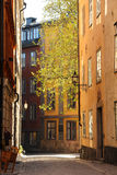 Old Town in Stockholm in springtime Royalty Free Stock Photo