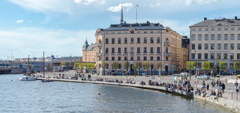Old Town in Stockholm a  sunny and early spring day Stock Images