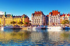 Old Town in Stockholm, Sweden Royalty Free Stock Photos