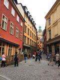 Old town. In Stockholm Sweden Royalty Free Stock Photo