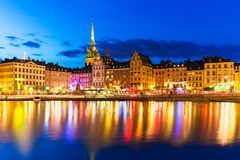 Old Town in Stockholm, Sweden Stock Images