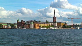 Old Town in Stockholm, Sweden stock video
