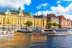 Old Town in Stockholm, Sweden Stock Photography