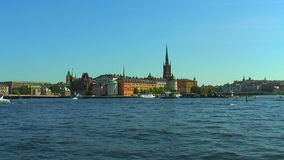 The Old Town in Stockholm, Sweden. Scenic summer view of the Old Town in Stockholm, Sweden stock video footage