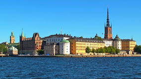 Old Town in Stockholm, Sweden stock video footage