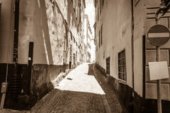 The Old Town in Stockholm, Sweden. The Way in The Old Town in Stockholm, Sweden Royalty Free Stock Photography