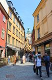 Old Town in Stockholm. A walk in the old town of Stockholm Royalty Free Stock Photos
