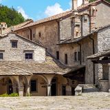 Old town stone buildings of Verna in Europe. Royalty Free Stock Photography