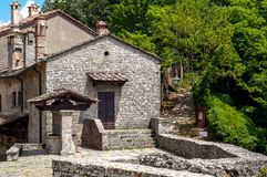 Old town stone buildings of Verna in Europe. Stock Image