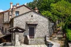 Old town stone buildings of Verna in Europe. Stock Photography