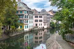 La Petite France in Strasbourg, Alsace, France. Old Town of Strasbourg called La Petite France, Alsace, France Stock Photography