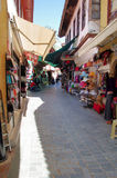 Old town street in Antalya, Turkey Stock Image