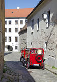 The old town street in Bratislava, Slovakia Royalty Free Stock Image