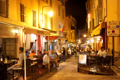 Old town street in Cannes Royalty Free Stock Photo