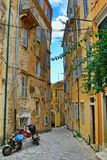 Old town street Corfu Greece Stock Image