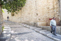 Old town street of jerusalem israel Stock Photography