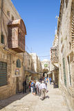 Old town street in jerusalem israel Stock Photos