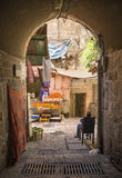 Old town street of jerusalem israel Royalty Free Stock Photo
