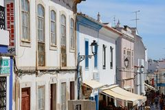 Old town street, Lagos, Portugal. Royalty Free Stock Image