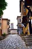 Old town street,Plovdiv Bulgaria Stock Photography