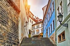 Old Town Street in Prague Stock Photo