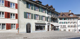 Old town street in Rapperswil Royalty Free Stock Photo