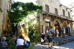 Old Town street in Rhodes Royalty Free Stock Photography
