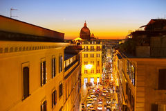 Old Town street of Rome Stock Image