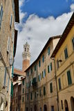 Old town street. Siena. Tuscany. Italy Stock Photo