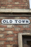 Old Town Street Sign Stock Photography